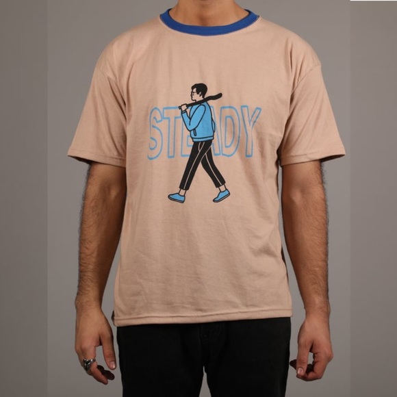 Steady Hands Other - NWOT Steady Hands Bat Boy Ringer Tee Large
